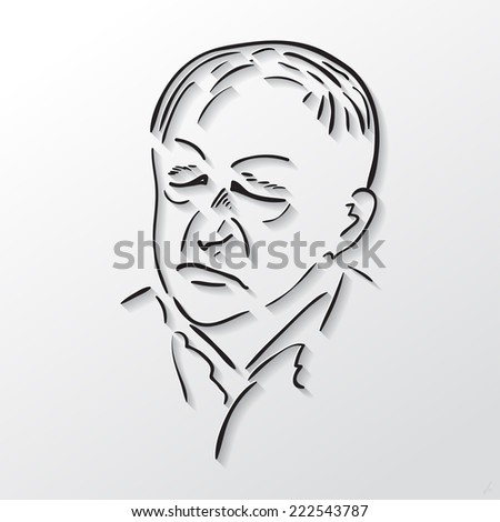 old mans face drawing - photo #29