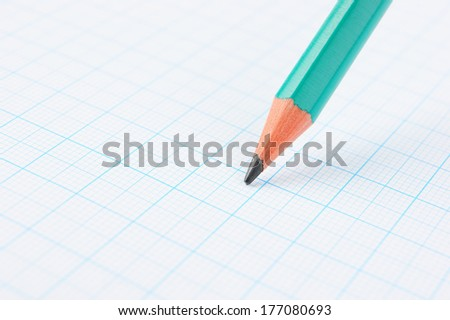 Drawing pencil on graph paper