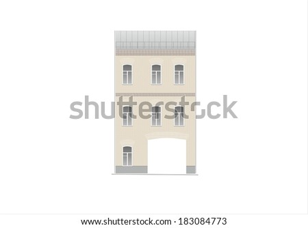 Drawings of houses of classical architecture of the end of 18-19-20 century.