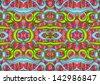 Drawn fractal - stock photo