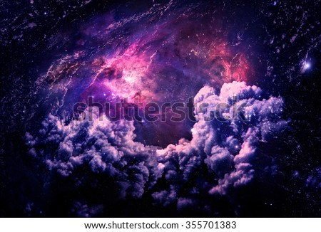 Dreamscape Galaxy - Elements of this Image Furnished by NASA