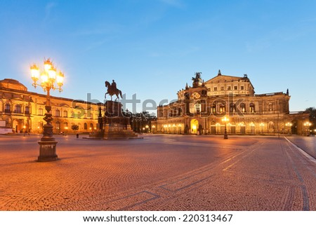 Dresden - Germany - Semper opera at dawn