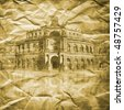 Dresden - toned picture in retro style - stock photo