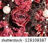 dried bouquet of roses - stock photo