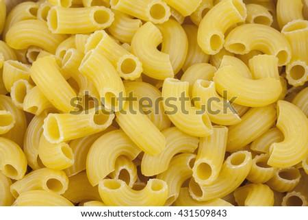 Dried Elbow Macaroni Pasta Background