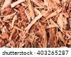 dried shredded oak bark as background close-up macro - stock photo