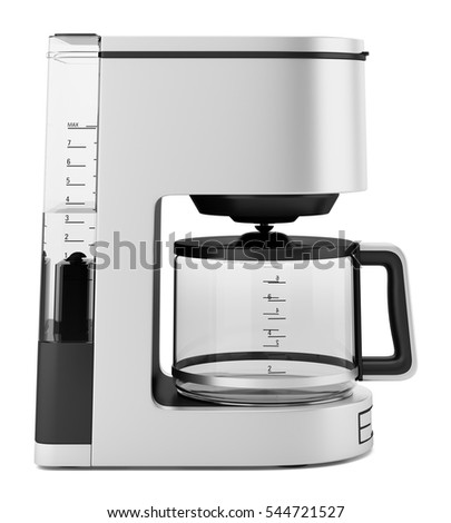 drip coffee machine isolated on white background. 3d illustration