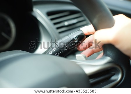 Drive a car and turn signal switch