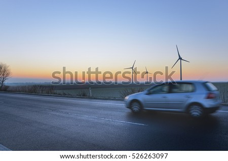 Driving at dawn