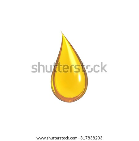 drop of oil with white background