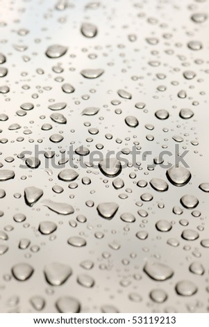 Drops of water on a glass