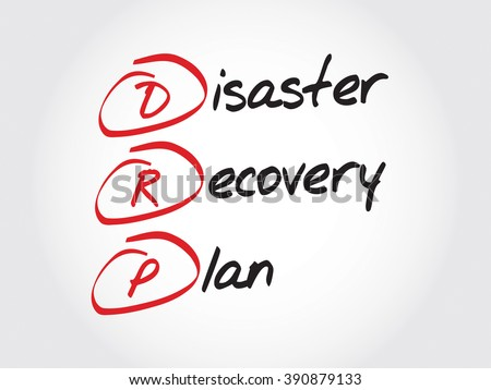 Drp Disaster Recovery Plan Acronym Business Stock Vector