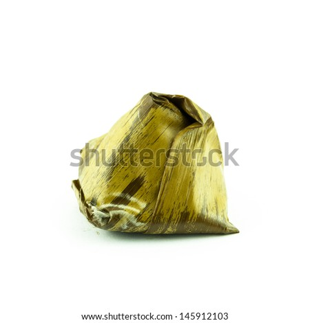 Stuffed dough pyramid dessert thailand stock photo for Anything of waste material