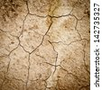dry cracked earth texture background - stock photo