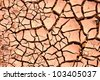 Dry land. Cracked ground background. - stock photo