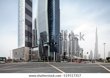 Dubai city downtown