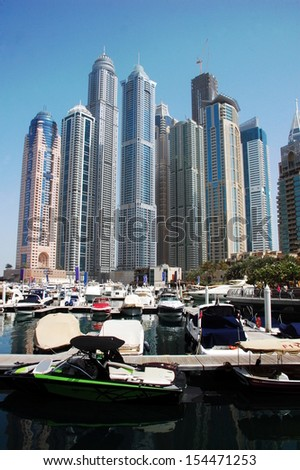 "Dubai Marina - Dubai Marina is a district in the heart of what has become known as ""new Dubai"" in Dubai, United Arab Emirates."