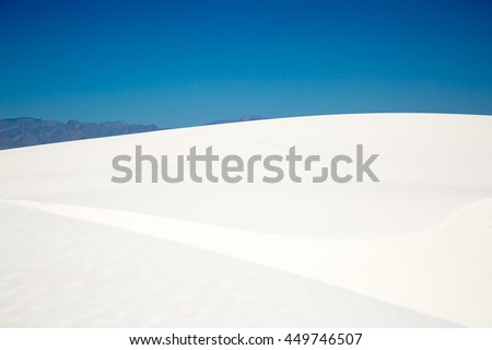 Dunes/Sandy White/White gypsum sand dune at White Sands National Monument.