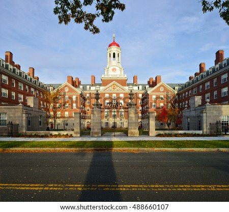 Dunster House in the fall. Harvard University, Cambridge, Massachusetts
