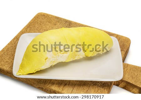 Durian is king of tropical fruits from Southeast Asia, Thailand.