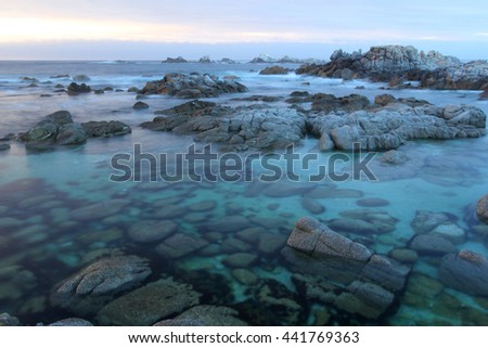 Dusk at Asilomar State Beach, near Monterey, California, United States of America