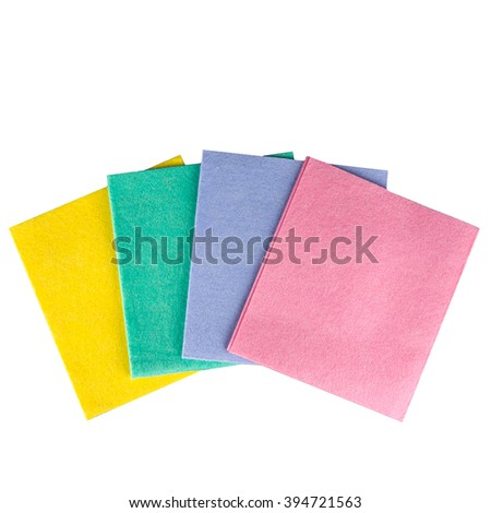 Stack fabric napkins household isolated on stock photo 435420598 shutterstock - Lavish white and grey kitchen for hygienic and bright view ...