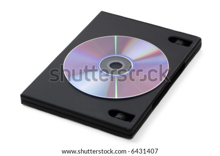 DVD box isolated on a white
