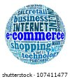E-commerce in word collage - stock photo