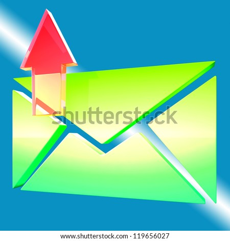 E-mail Symbol Shows Emailing Contacting Send Online