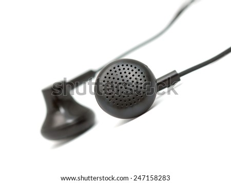 earphone for music on a white background