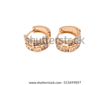 earrings jewelry gold