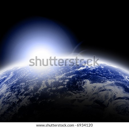 Earth as seen in outer space