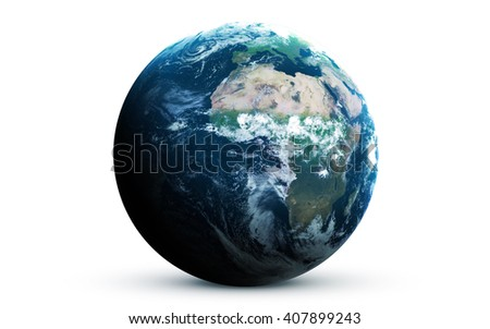 Earth - High resolution 3D images presents planets of the solar system. This image elements furnished by NASA