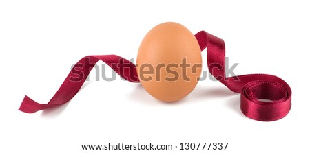 Easter egg decorated isolated on white background