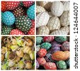 easter eggs collage, Krakow, Poland, Europe - stock photo