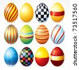 Easter eggs, Happy Easter Clip Art (version eps please see at my gallery) - stock vector