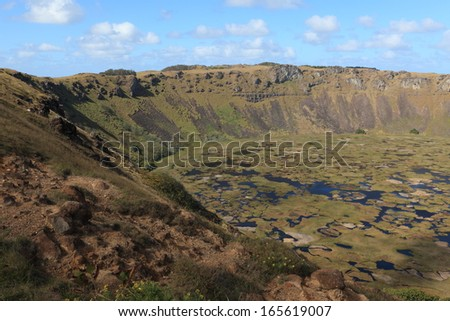 Easter Island the Crater Rano Kau