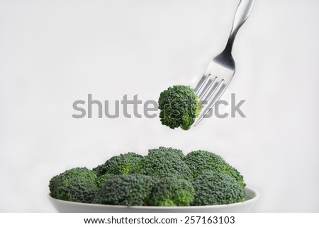 Eating broccoli
