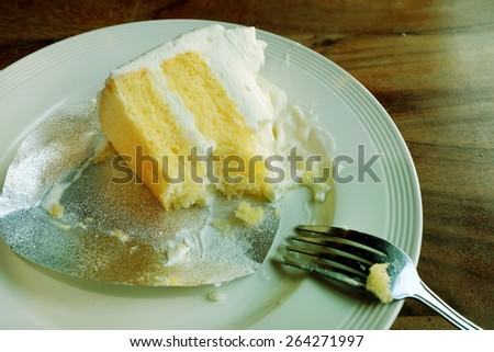 Eating coconut cake