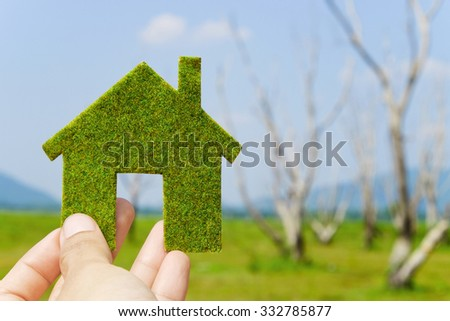 eco house icon concept