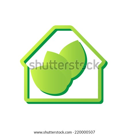 Eco House Icon. Ecology design element.