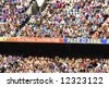 Editorial, crowd at Australian rules football stadium - stock photo