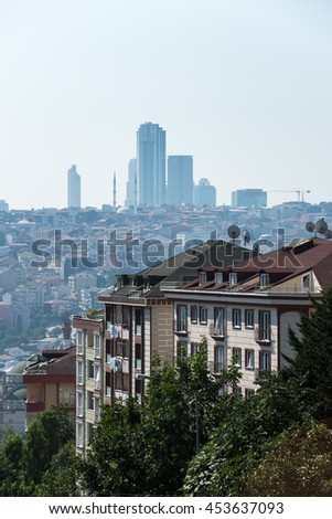 Editorial use. Streets of Istanbul are crowded and population density is high. Image taken in Istanbul, July 2015.