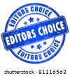 Editors choice stamp - stock photo