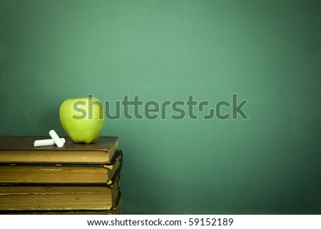 Education concept, toned and soft focus image