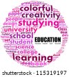 Education. Word collage on white background. - stock vector