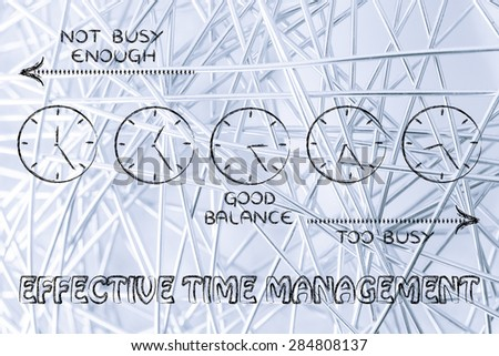 effective time management: find a good balance between too busy and not enough