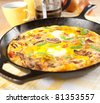 Eggs and Vegetables Frittata for Breakfast - stock photo