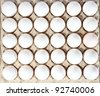 eggs in packing on the white background. (isolated) - stock photo