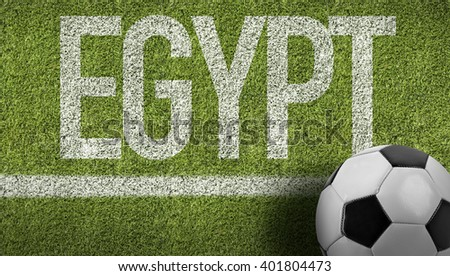 Egypt Ball in a Soccer Field